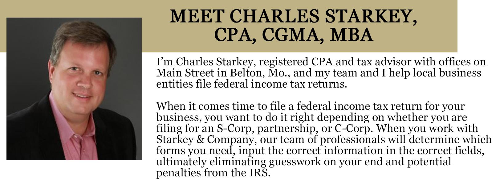 About Charles Starkey